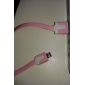 Micro USB to USB Male to Male Data Cable for Samsung/Huawei/ZTE/Nokia/HTC/Sony Ericson  Flat Type Pink(1M)
