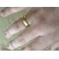 Кольца Повседневные Новогодние подарки Бижутерия Титановая сталь Женский Мужчины Классические кольца 1шт,8 Золотой