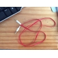 3.5mm Male to Male Audio Connection Cable Flat Type Red (1.5m)
