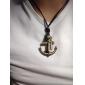 Ожерелье Ожерелья с подвесками Бижутерия Повседневные Новогодние подарки Крестообразной формы Сплав Медь Мужчины Подарок Медный