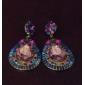 드랍 귀걸이 유럽의 보석 라인석 모조 다이아몬드 합금 드롭 보석류 용 파티 일상