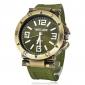 Мужской Армейские часы Наручные часы Кварцевый силиконовый Группа Черный Зеленый