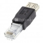 USB 2.0 на RJ45 Женский Мужской адаптер Черный для Ethernet