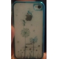 Butterfly Girl on the Dandelion Pattern Hard Case for iPhone 4/4S