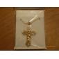 Femme Pendentif de collier Colliers Vintage Forme de Croix Platiné Plaqué or 18K or Alliage Mode Bijoux PourOccasion spéciale