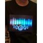 Camiseta com LED Ativado pela Música Espectro VU (4xAAA)