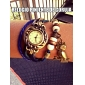 Frauen vintage Eule Anhänger Lederband Quarz Analog Armband Uhr (verschiedene Farben)