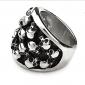 anillo del modelo del cráneo de acero de titanio de eruner®men