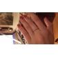 lureme®alloy циркон снежинка узор кольцо (случайный размер)