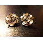 Earring Stud Earrings Jewelry Women Daily Alloy White