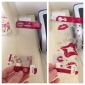 Lip Pattern Front and Back Protector Stickers with Cleaning Cloth for iPhone 5
