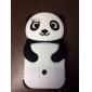 Projeto dos desenhos animados Panda Silica Gel Soft Case 3D para iPhone 5