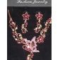 Z&X®  women's Charming flower butterfly Necklace Earring Jewelry Set