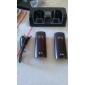 듀얼 wii (여러 색)에 대한 역 + 배터리를 충전하는