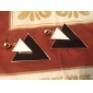 Punk Style Alloy Acrylic Double-triangle Pattern Earrings (Assorted Colors)