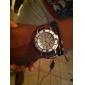 Women's Quartz Analog White Dial PU Band Wrist Watch (Assorted Colors)