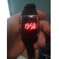 Relógio LED Quadrado com Bracelete de Silicone