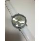 Mulheres Relógio Elegante Relógio de Moda Relógio de Pulso Quartzo Couro Banda Heart Shape Branco Branco