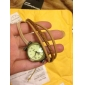 Женские Модные часы Часы-браслет Японский Кварцевый Натуральная кожа Группа Винтаж Богемные Черный Хаки Черный Хаки