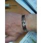Herre Guld Kors Titanium stål armbånd