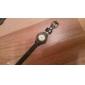 Women's Flower Style PU Band Analog Quartz Wrist Watch (Assorted Colors)