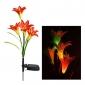 couleur RVB changeant solaire de jardin de fleur conduit (cis-a2807)