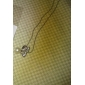 Lureme®Butterfly With Faux Pearl Rhinestone Pendant Necklace