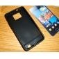 삼성 i9100 (검은 색)에 대한 보호 실리콘 케이스