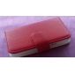 Leechee Lines PU Leather Case with Card Slot for Samsung Galaxy S4 Mini