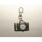 Retro-Kamera von Unisex-Legierung Analog Quarz Schlüsselbund Uhr (Bronze)
