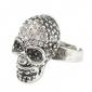 Fashion Skull Rhinestone Studded Ring