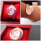Analoge Damen Quarz -Armbanduhr mit Gold-Legierung (verschiedene Farben)
