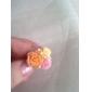 Vergoldete Legierung Acryl Zirkon Blumenmuster Ring