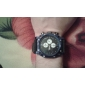 Men's Blue Square Case Fabric Band Quartz Analog Wrist Watch