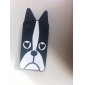 Black Dog Pattern Soft Case for iPhone 4/4S