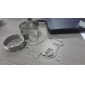 Silver Plated Alloy Handcuffs Pendant Necklace