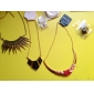 Women's The new European and American fashion vintage crescent shaped  necklace N726