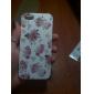rosa patrón TPU caso suave para el iphone 5/5s