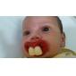Joyful barn To fortænder Baby Pacifier med røde læber