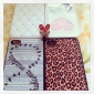 Double Heart Pattern Beads Inside Back Case for iPhone 4/4S