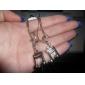 Music Note Shape Platinum Tassels Earrings