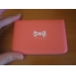 Lady PU Leather Card Bag With Dog Bone Patten(Assorted Color,for 12 Cards)