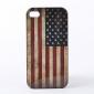 Vanhanaikainen US lippu kuvioinen kova kuori iPhone 4/4S:lle (Ison-Britannian lippu)