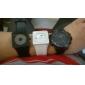 Пара креативных дизайнерских часов с силиконовым браслетом (черный и белый)