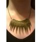 o punk lureme®gothic estilo vintage spike bronze borla gargantilha colar