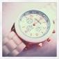 여성의 젤리 컬러의 실리콘 밴드 석영 손목 시계 (분류 된 색깔)