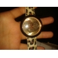 Women's Quartz Analog Golden Heart Wrist Watch With Beige Leather Band(Random Colors)