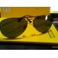 uv400 resin kanta cermin mata hitam memandu silau-pengawal (hitam bingkai kanta hijau)