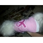 Ribbon Style Cotton Dog Shirt (XS-M, Pink)
