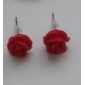 Earring Stud Earrings Jewelry Women Daily Stainless Steel White / Yellow / Red